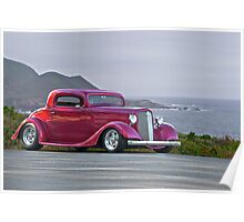 1934 Chevrolet 'Three Window' Coupe Poster