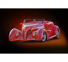 1938 Ford Cabriolet ... A sizzling affair ! Photographic Print