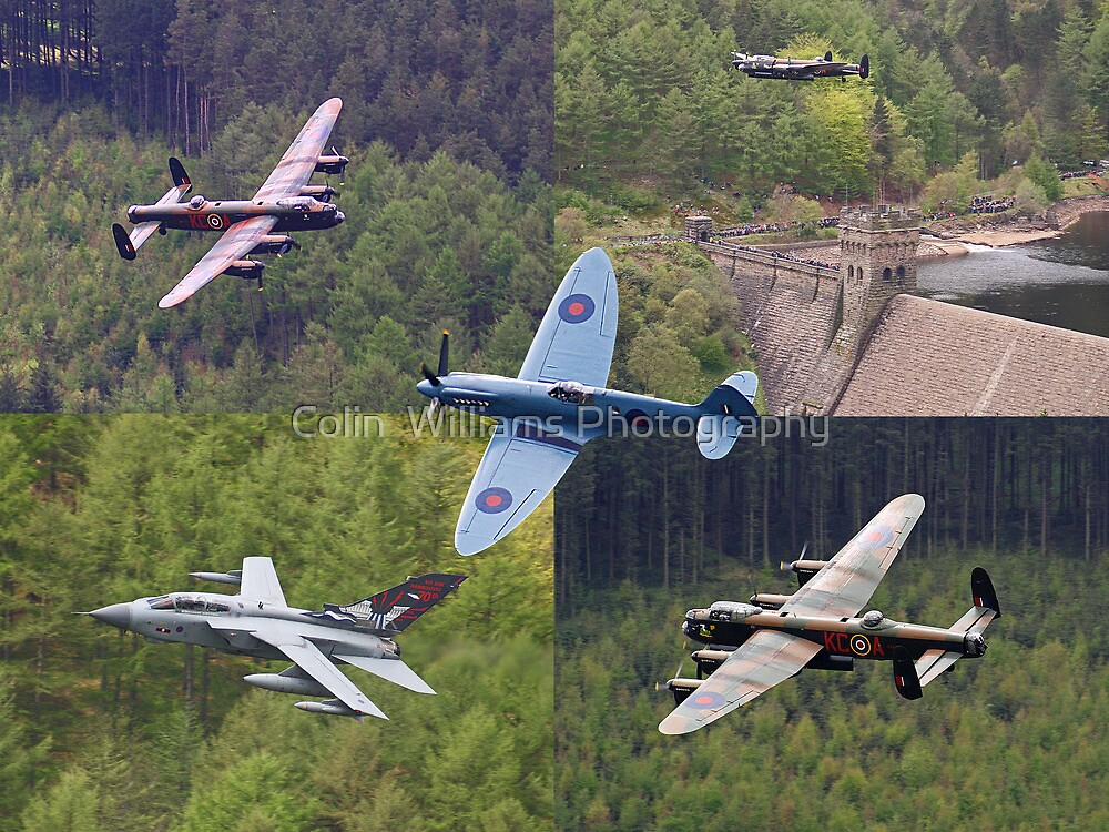 A Selection of Images Taken At The Derwent Dam During The Flypast on the 16th May 2013 - Reworked by Colin  Williams Photography