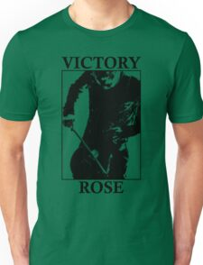Victory Rose in Black Unisex T-Shirt