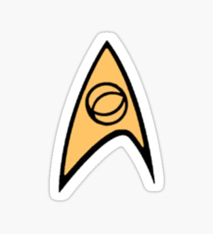 Star Trek Science Officer Badge Sticker