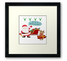 Ugly Christmas- Santa Ugly christmas sweat 1d Framed Print