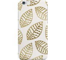 Gold Foil Leaves iPhone Case/Skin