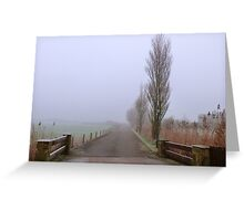 One Foggy day. Greeting Card