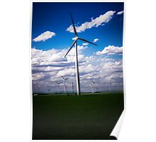 Wind Turbines in Kansas Poster