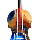 Violin Art by Sharon Cummings by Sharon Cummings