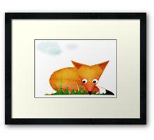 Sleepy Little Fox Framed Print