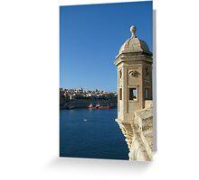 Senglea's Watch Tower Greeting Card