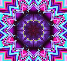 The Flowering Kaleidoscope, Fractal artwork by walstraasart