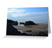 Northcott Mouth Beach Bude Cornwall Greeting Card