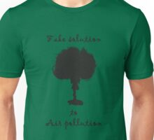 Fake solution to air pollution Unisex T-Shirt
