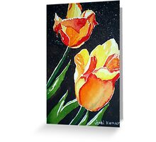 SUN-KISSED TULIPS Greeting Card