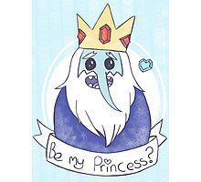 The Ice King is searching for his Princess Photographic Print