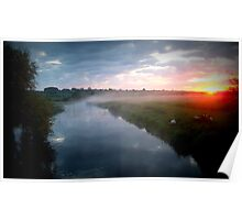 sunrise the great river ouse Poster