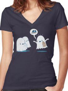 Horror stories Women's Fitted V-Neck T-Shirt