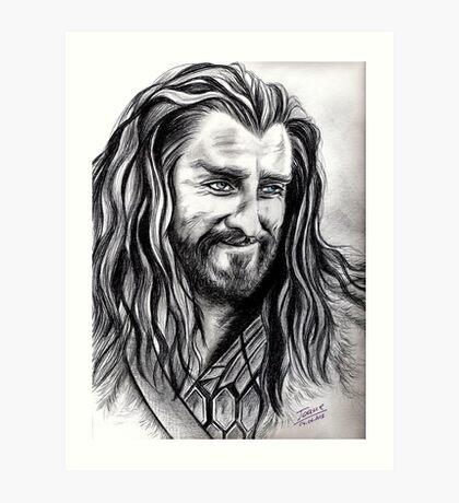 Richard Armitage - Thorin smiling Art Print