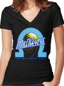 Milliways Women's Fitted V-Neck T-Shirt