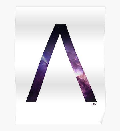 Lambda letter space concept Poster