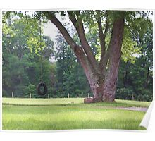 OLD FASHIONED TIRE SWING Poster