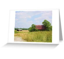 OLD BARN OUTSIDE MEMPHIS, INDIANA Greeting Card
