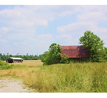 OLD BARN OUTSIDE MEMPHIS, INDIANA Photographic Print