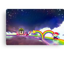 Rainbow Islands retro pixel art Canvas Print