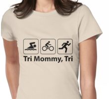 Tri Mommy, Tri Womens Fitted T-Shirt