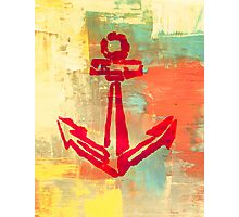 Colorful Anchors - Abstract Naval Print Photographic Print