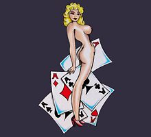 Five Aces Tattoo Pinup Girly Unisex T-Shirt