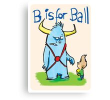 B is for ball Canvas Print