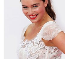 Emilia Clarke iPhone/iPod Case by Tyler Coare