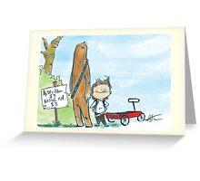 Chewbacca and Han Solo Greeting Card