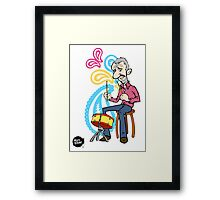 Ringo playing the Drum Framed Print