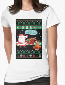 Ugly Christmas- Santa Ugly christmas sweat 2a Womens Fitted T-Shirt