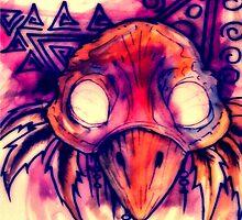 Bird Skull by EthanMolinere