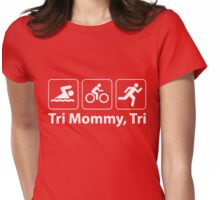 Tri Mommy, Tri. Womens Fitted T-Shirt