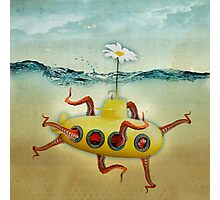 yellow submarine in an octapuses garden Photographic Print