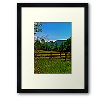 The Old Fence, The Ancient Mountains, and The Wild Field Framed Print