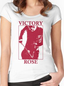 Victory Rose in Red Women's Fitted Scoop T-Shirt