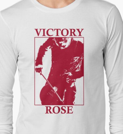 Victory Rose in Red Long Sleeve T-Shirt