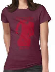 Victory Rose in Red Womens Fitted T-Shirt
