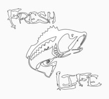Fresh Life Back White T-shirt Kids Tee