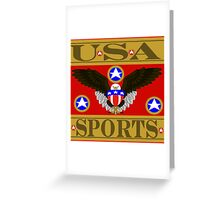USA Sports Red Greeting Card