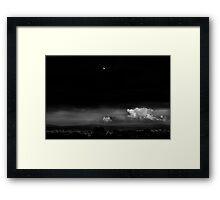 Moonrise, Scranton PA Framed Print