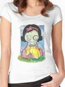 Zombie Snow White Women's Fitted Scoop T-Shirt