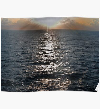 South Atlantic Sunset  Poster