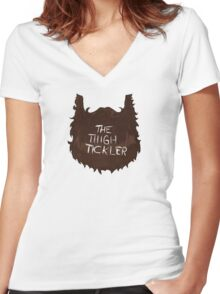 The Thigh Tickler Women's Fitted V-Neck T-Shirt