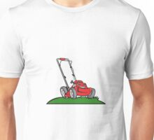 Lawnmower Front Isolated Cartoon Unisex T-Shirt