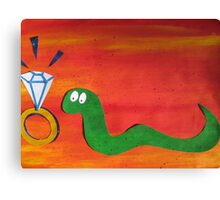Snake With a Fake Canvas Print