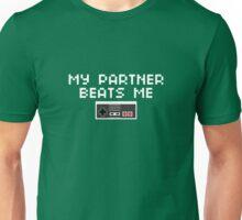 My Partner Beats Me (Light Text) Unisex T-Shirt